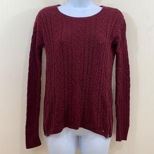 American Eagle Long Sleeve Hip Zip Sweater  Sz S